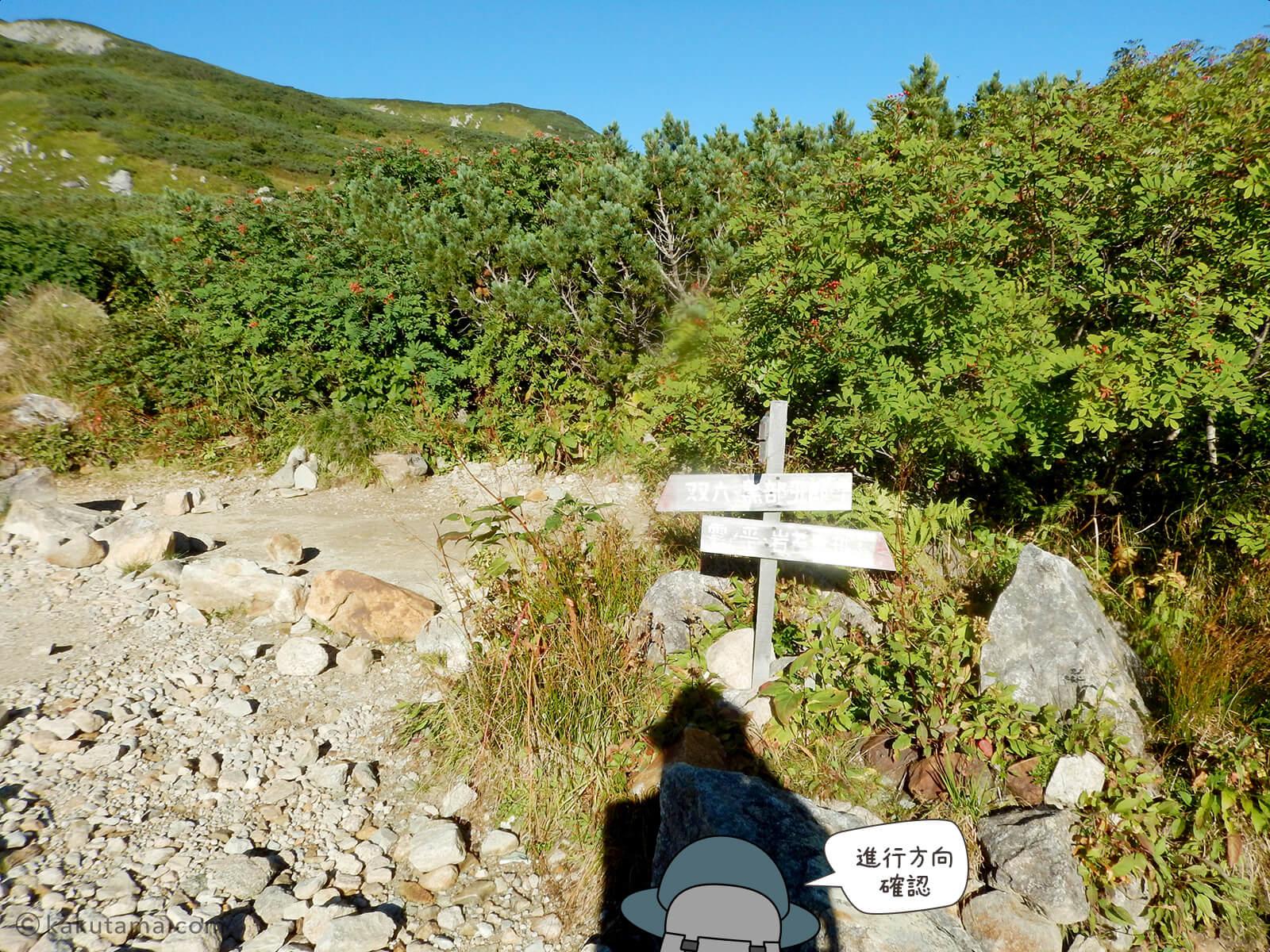 三俣山荘の分岐点