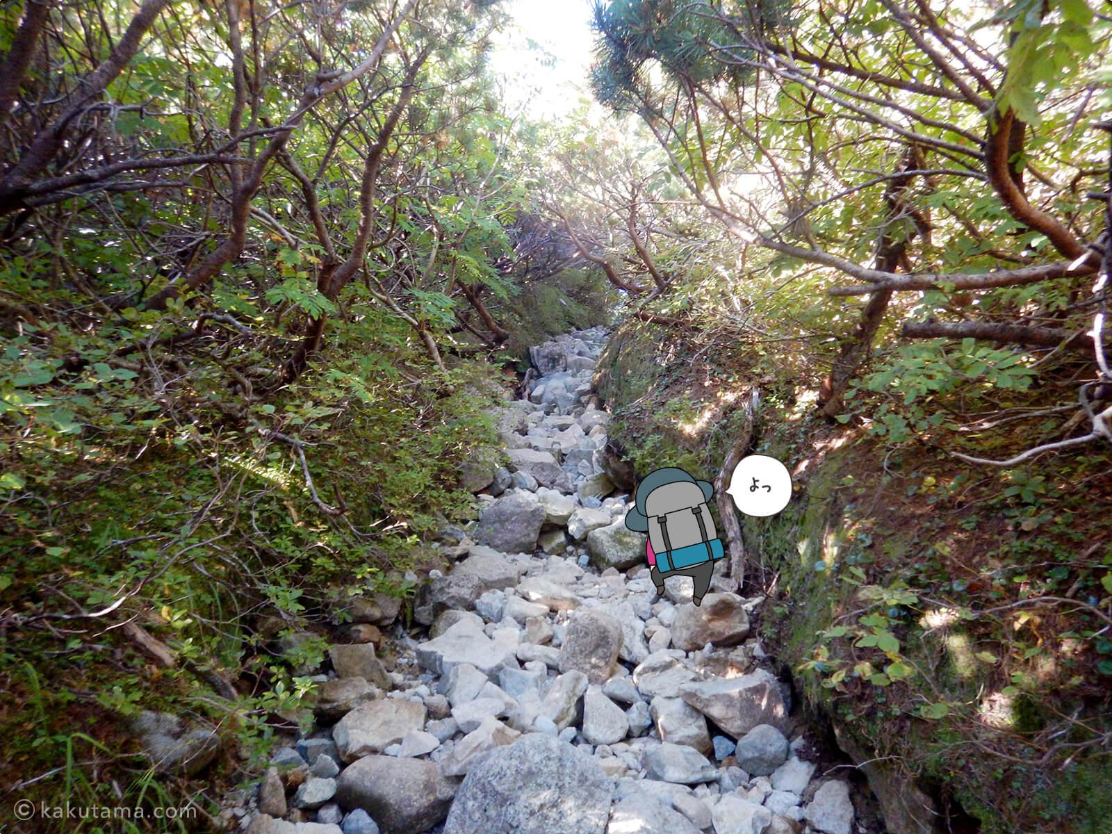 三俣山荘からの登り5