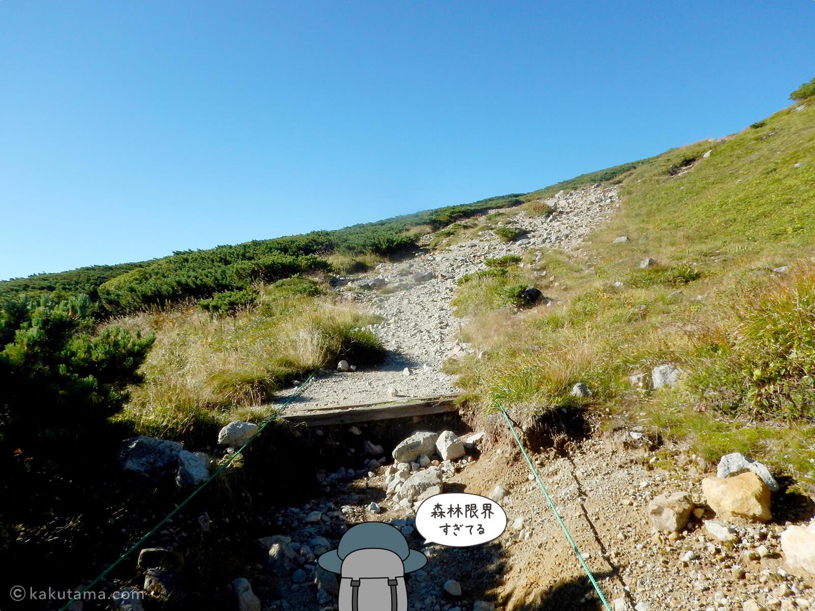 三俣山荘からの登り8