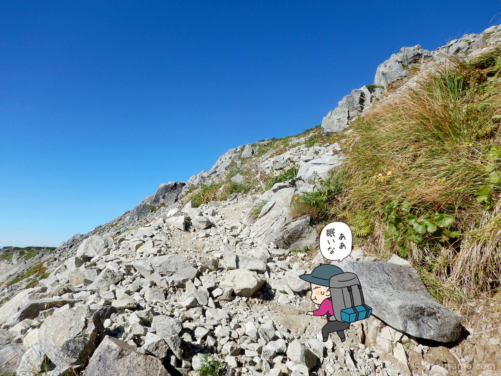 三俣蓮華岳へ向かって登る2