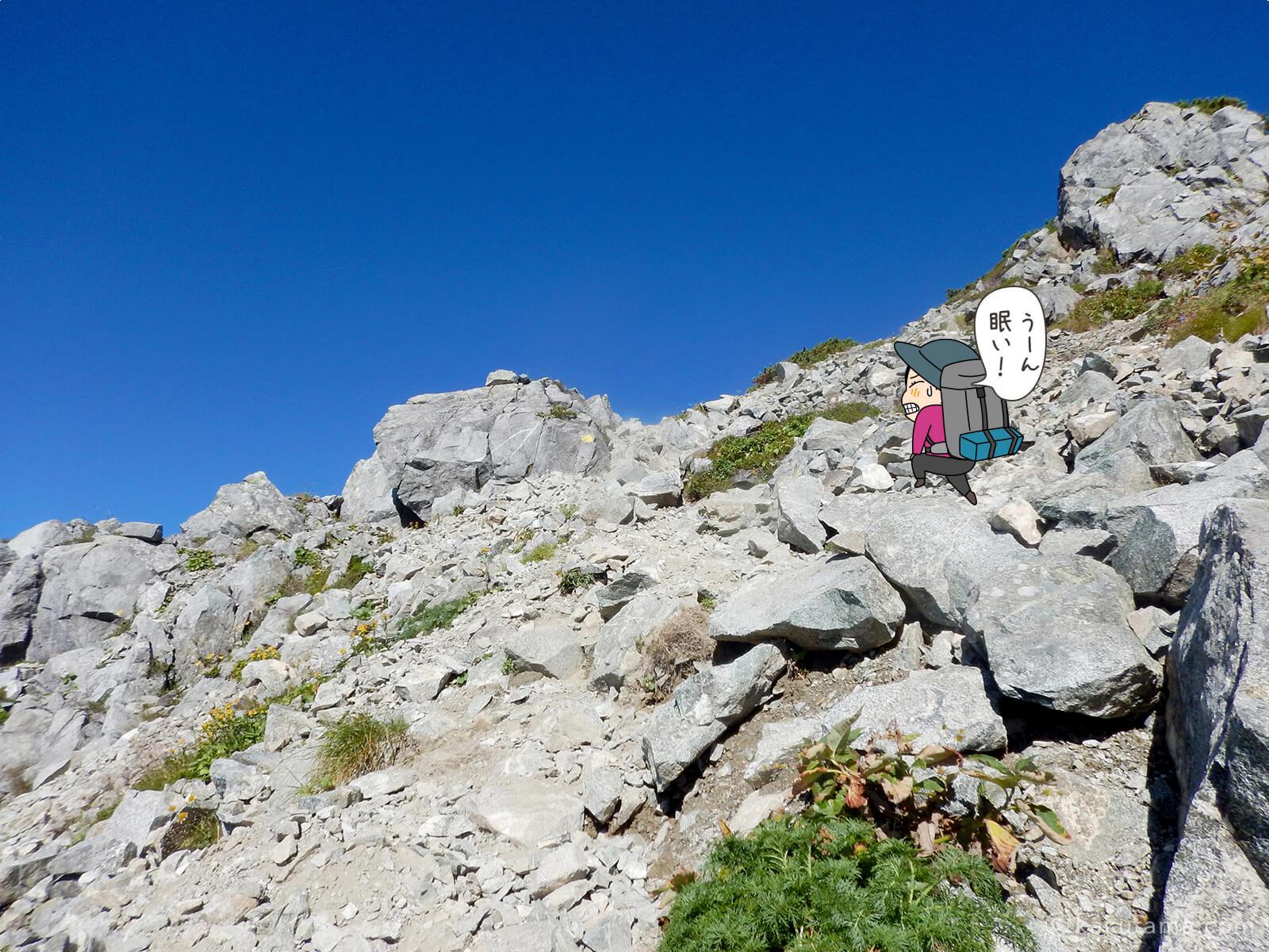 三俣蓮華岳へ向かって登る3
