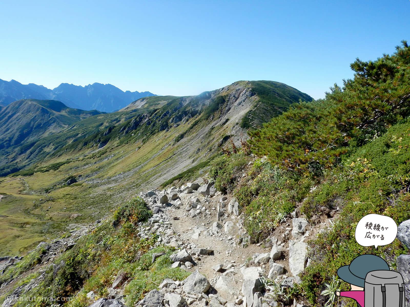 双六岳への稜線1
