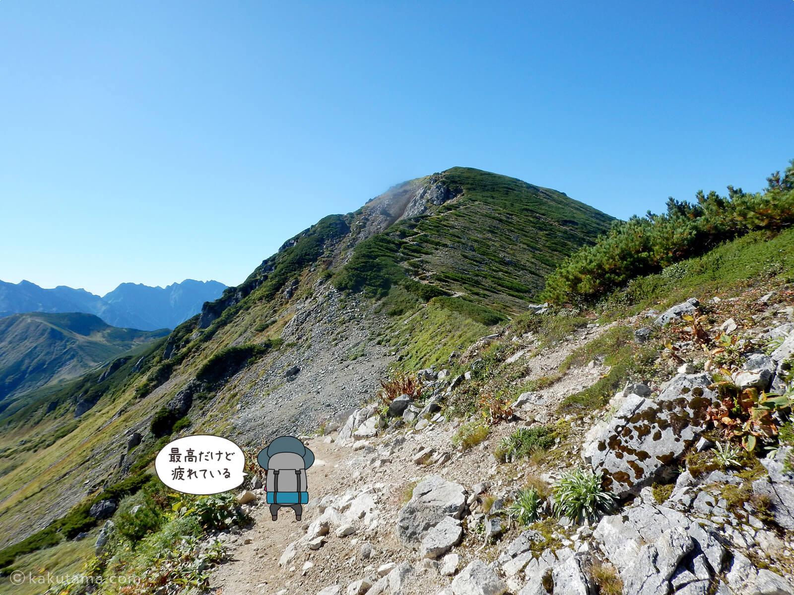 双六岳への稜線4