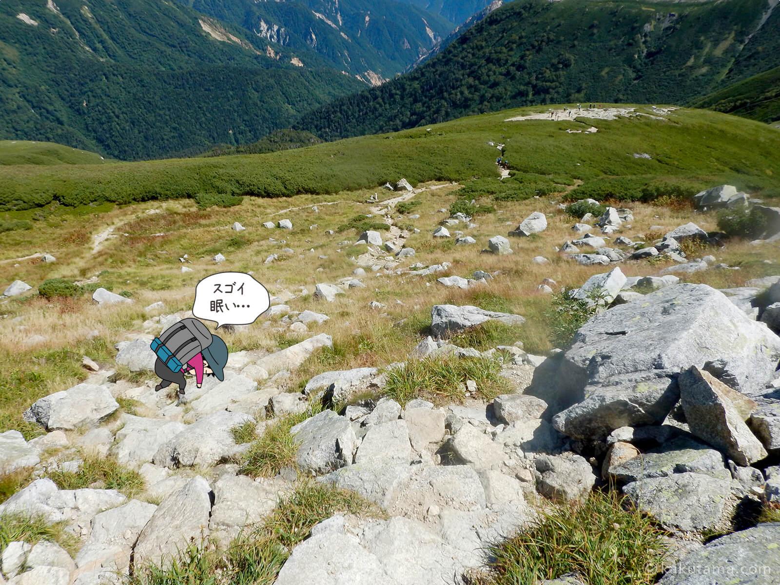 双六岳から下山3