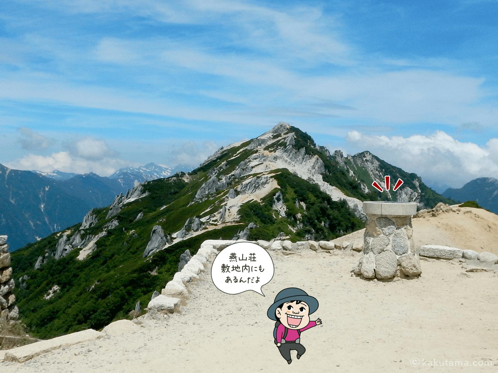 燕山荘の方位盤