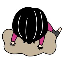 寝ている登山者のイラスト3