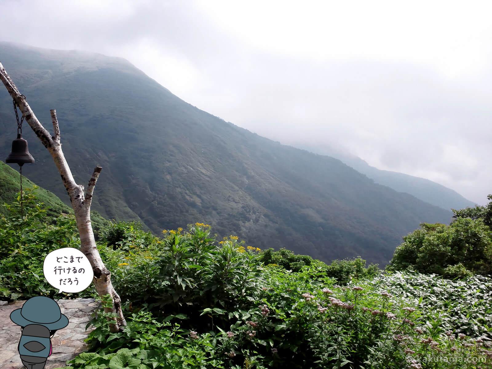 平標山の家から谷川岳方面を見る