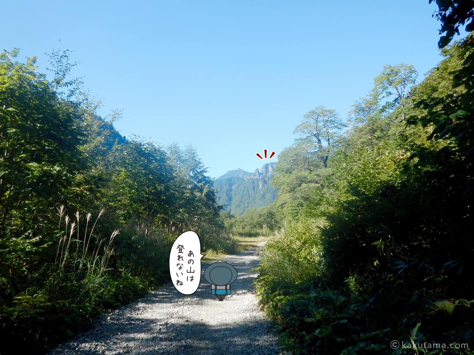 小池新道から新穂高温泉へ下山2