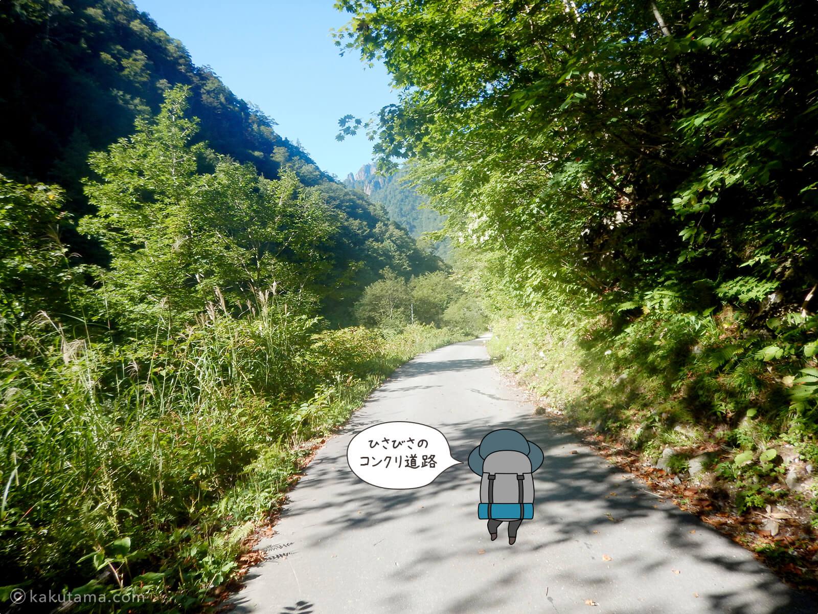 小池新道から新穂高温泉へ下山3