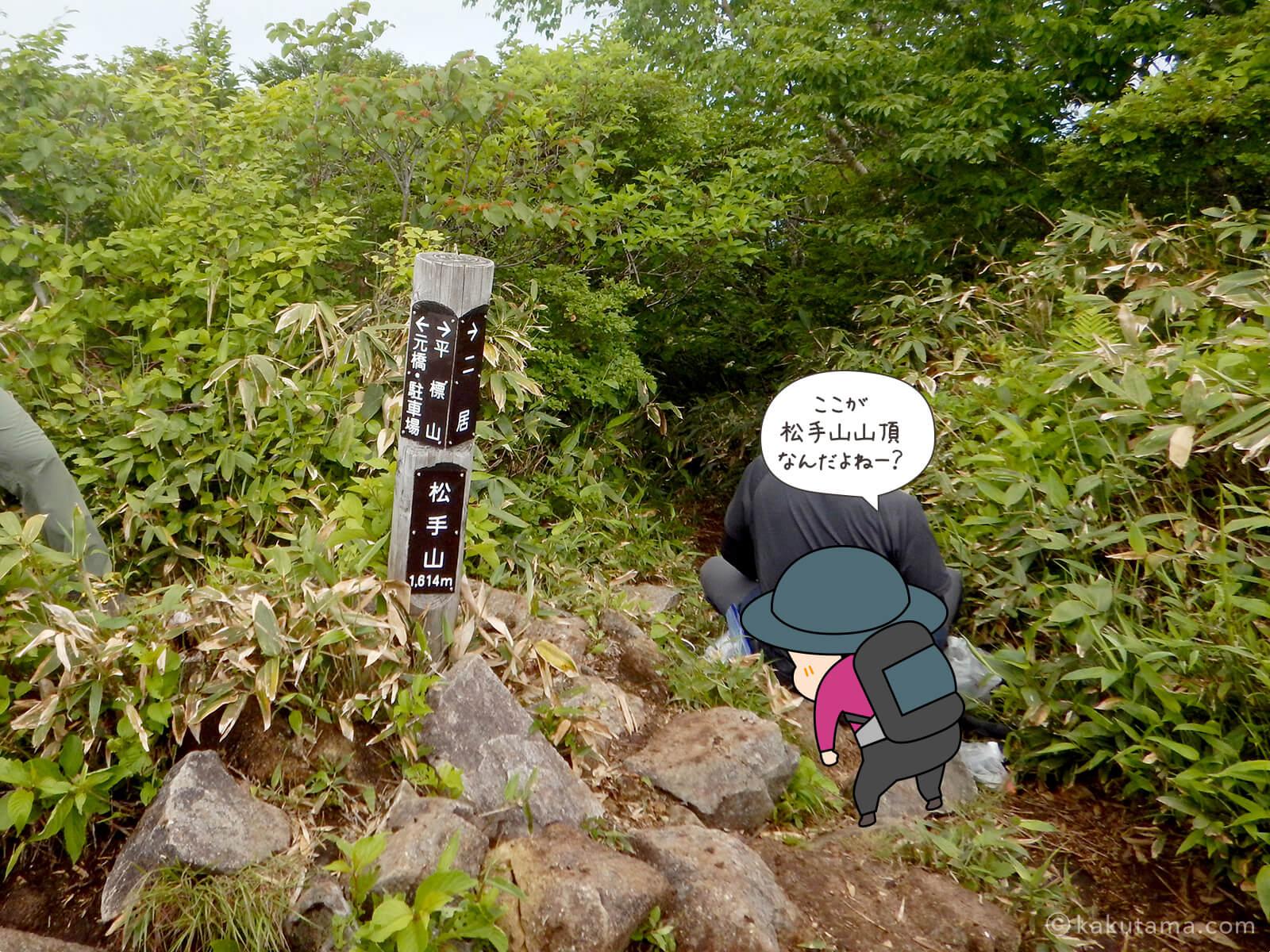 松手山に着いた