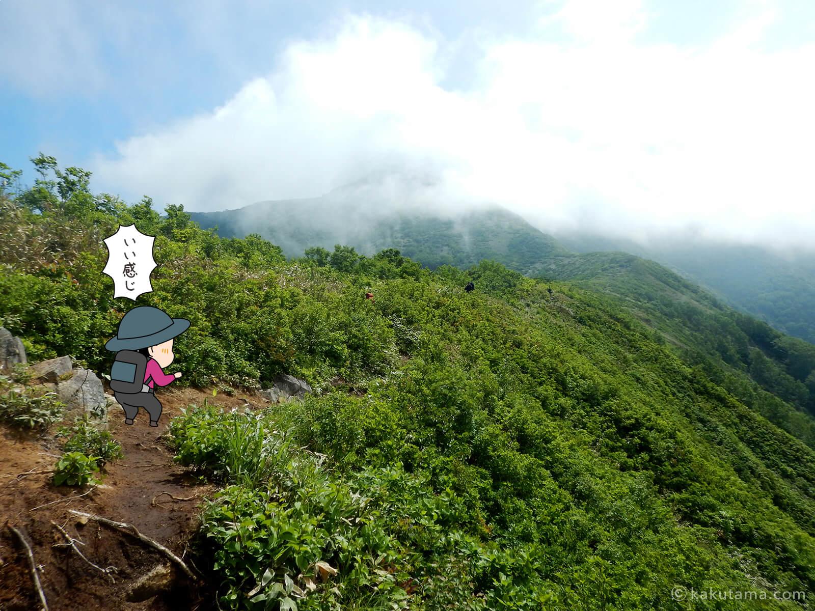 松手山から平標山山頂まで2