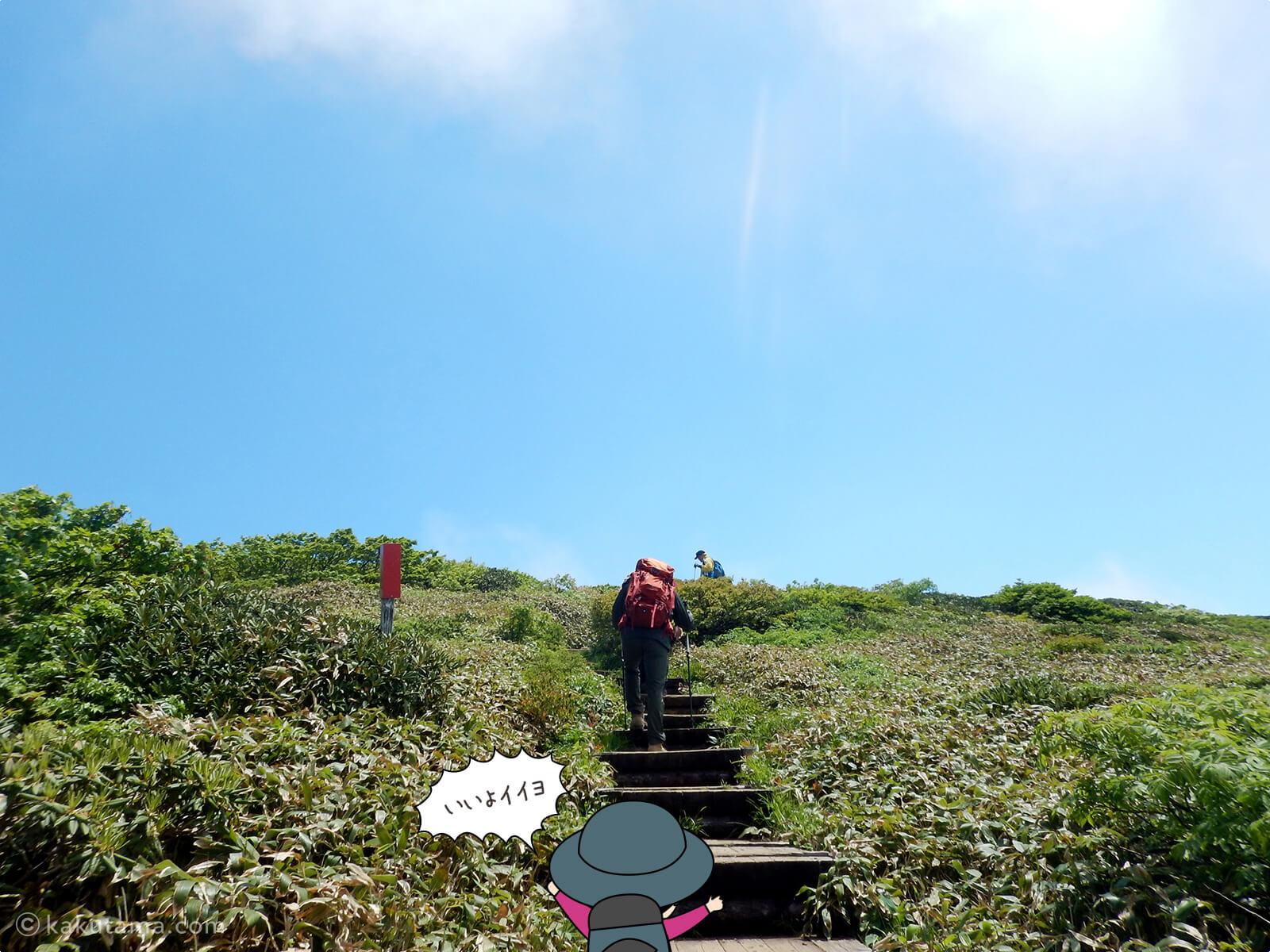 仙ノ倉山への風景が開けてきた2
