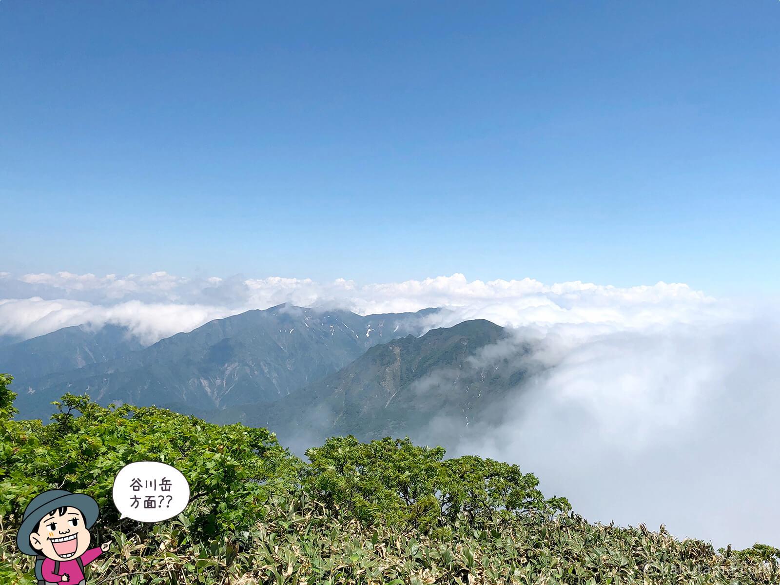 仙ノ倉山から見た谷川岳