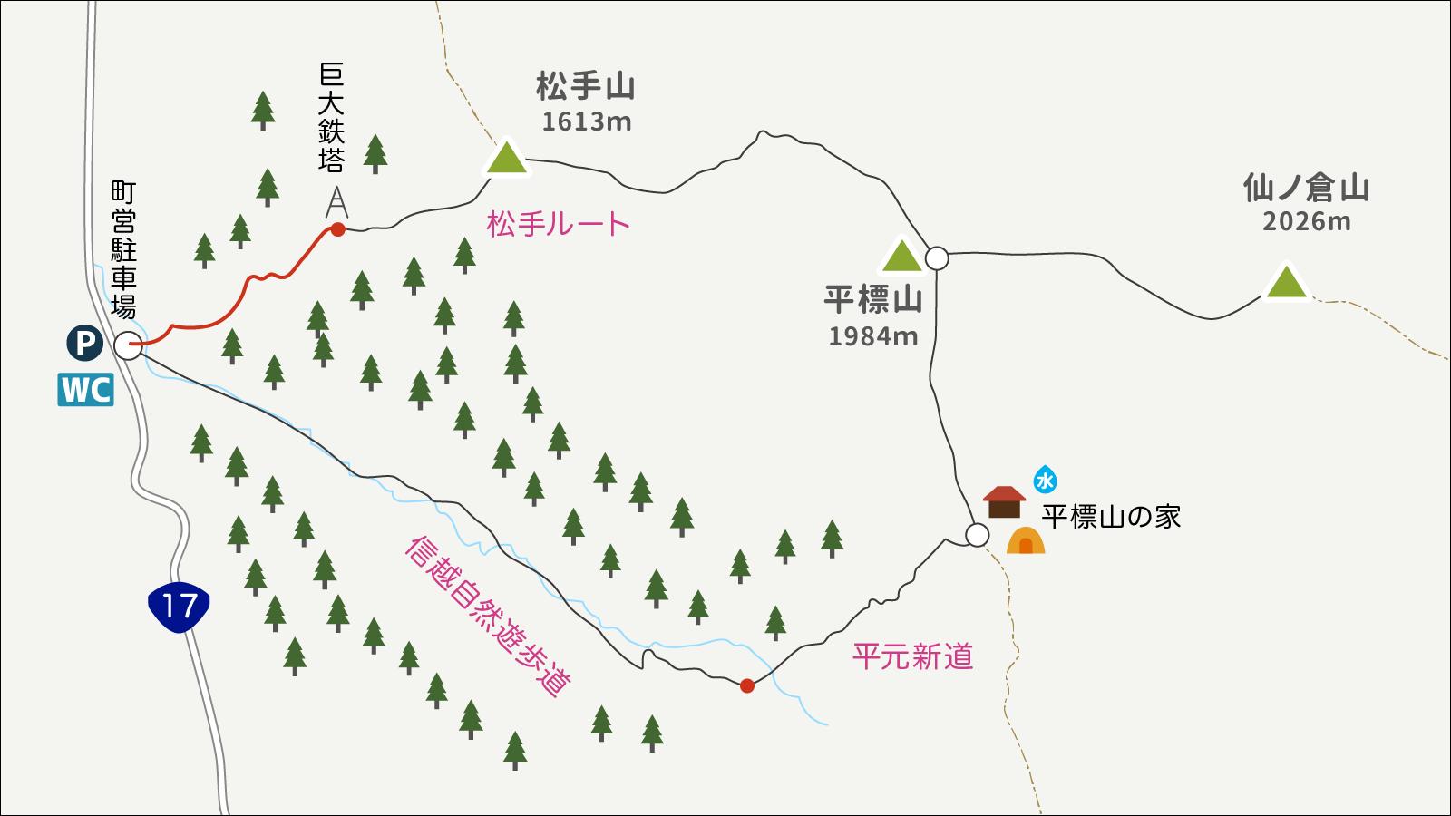 平標山イラストマップ1