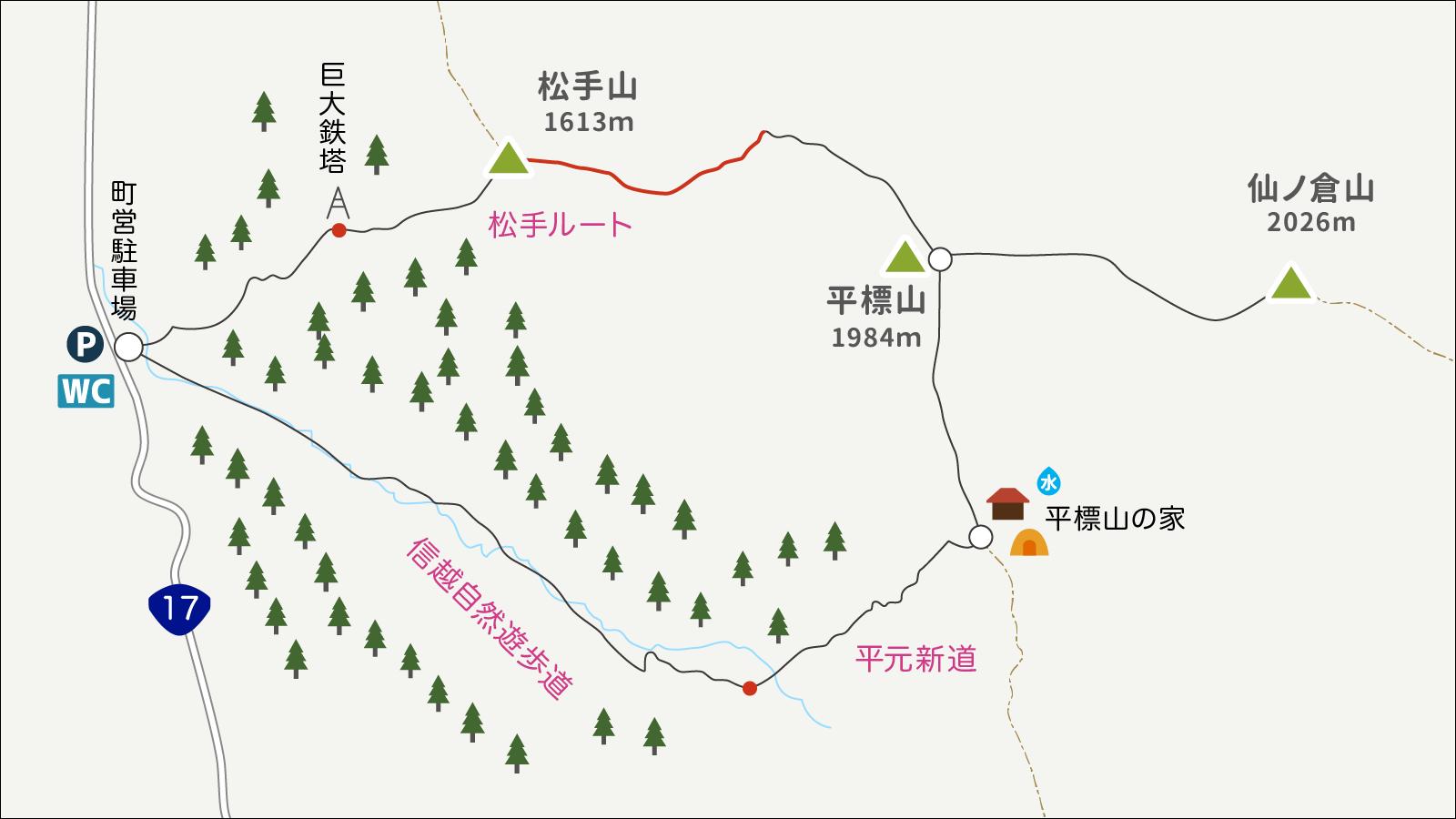 平標山イラストマップ3