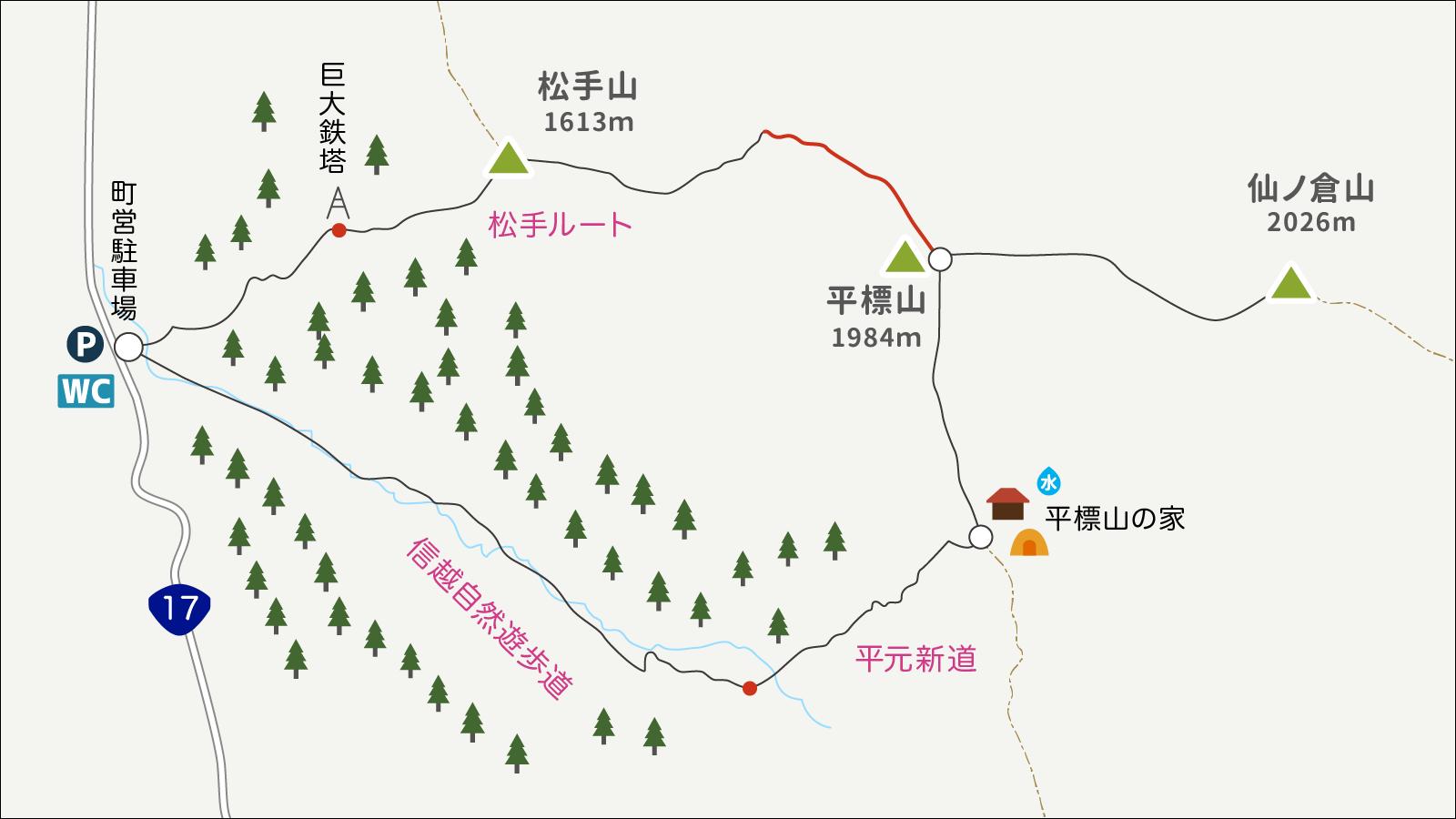 平標山イラストマップ4