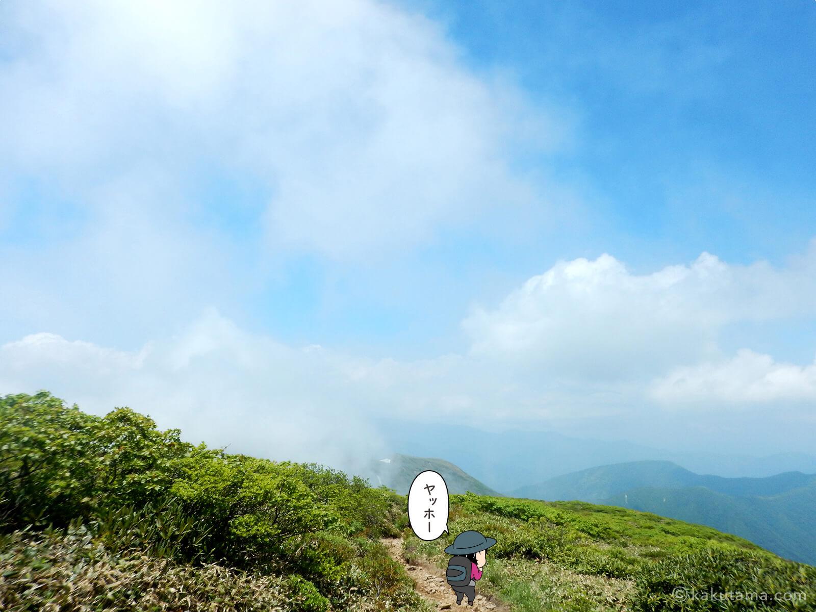 仙ノ倉山から平標山への道から見る山々2