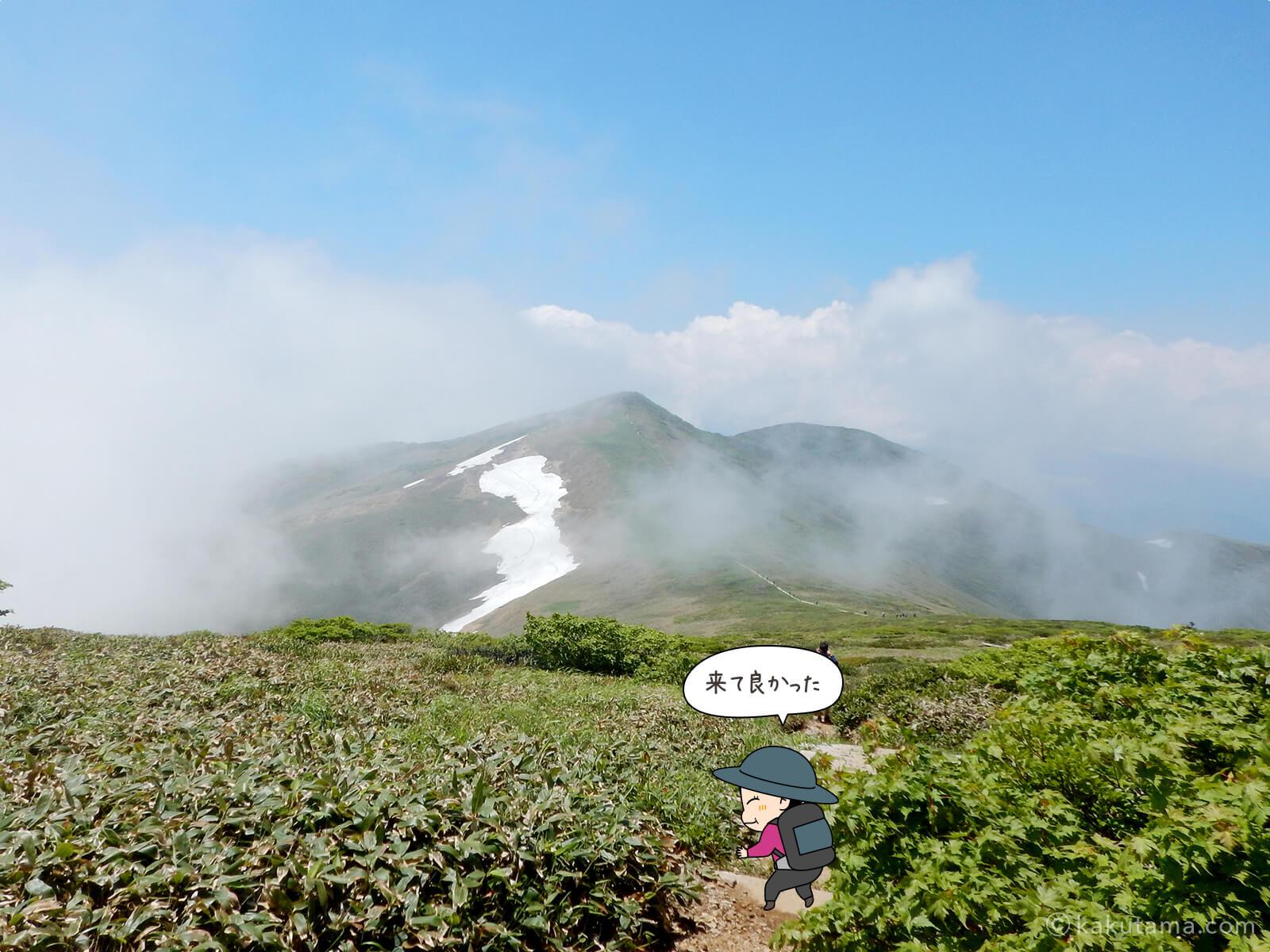 仙ノ倉山から平標山への道5
