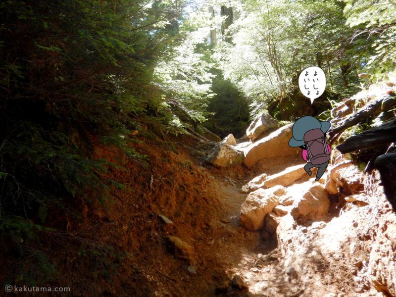 大日小屋から金峰山へ向かって歩く3