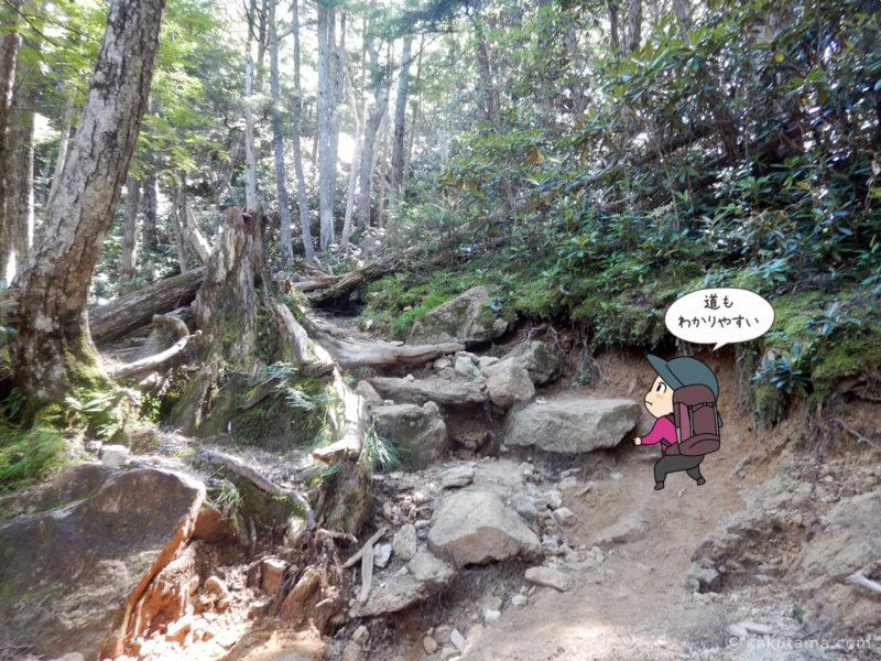 大日小屋から金峰山へ向かって歩く5