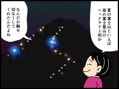 富士山にまつわる4コマ漫画1