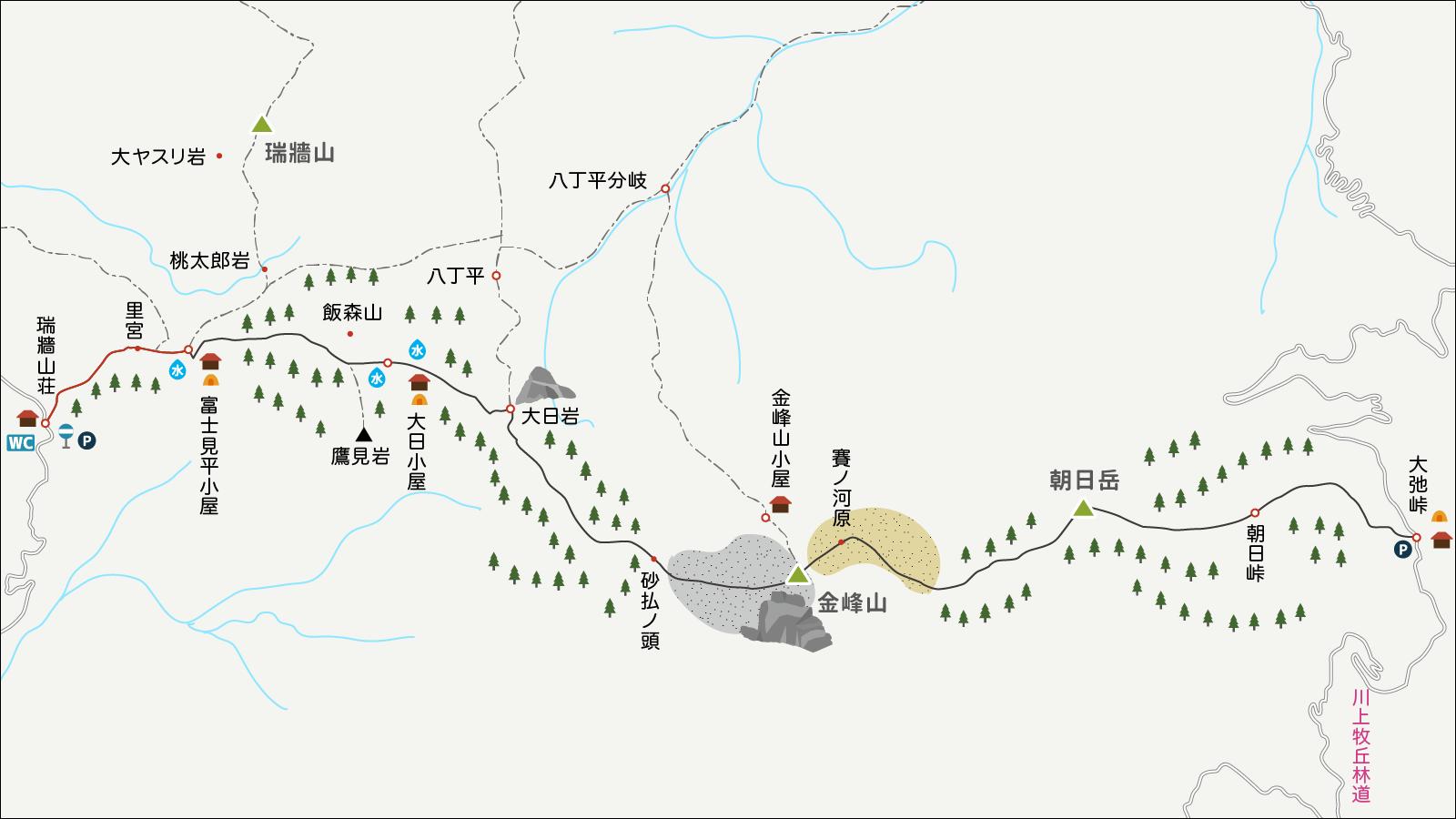 金峰山イラストマップ1