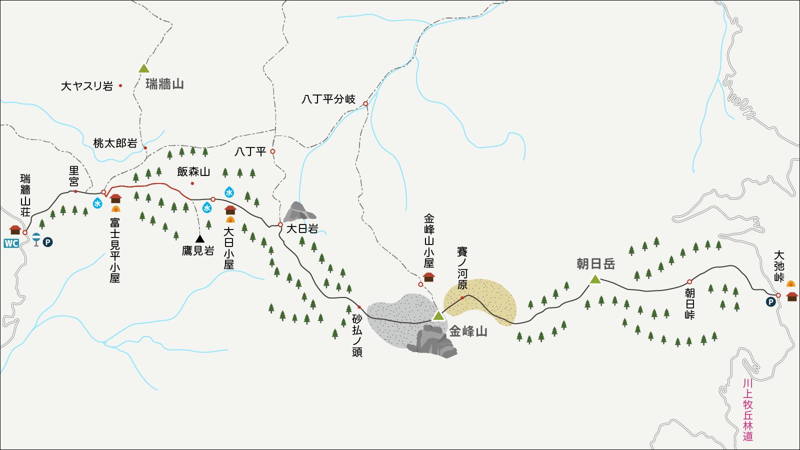 金峰山イラストマップ2