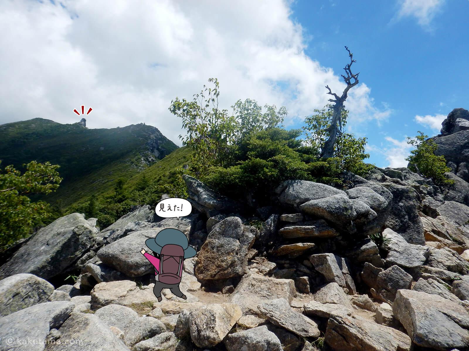 金峰山が見えた