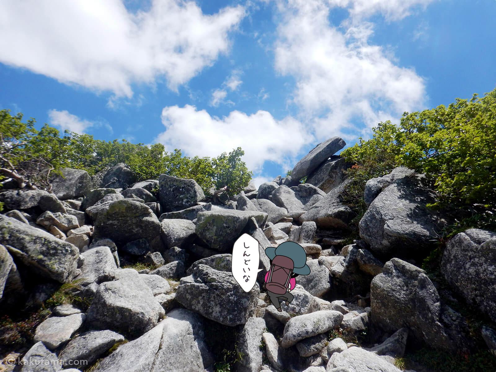 ゴツゴツの岩場