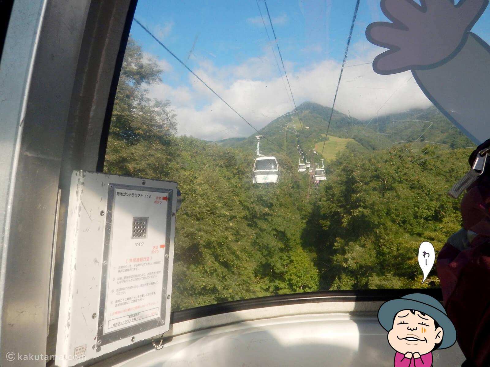 ゴンドラから見る風景