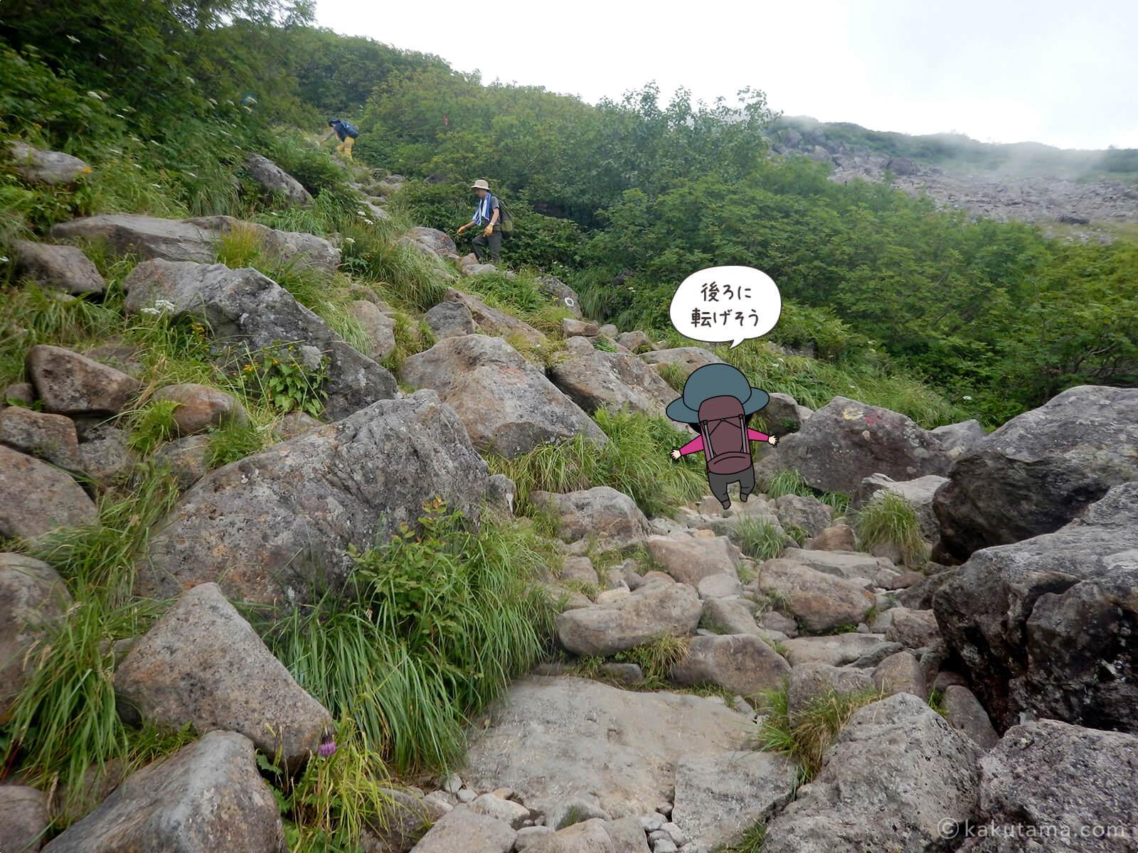岩場を登る6