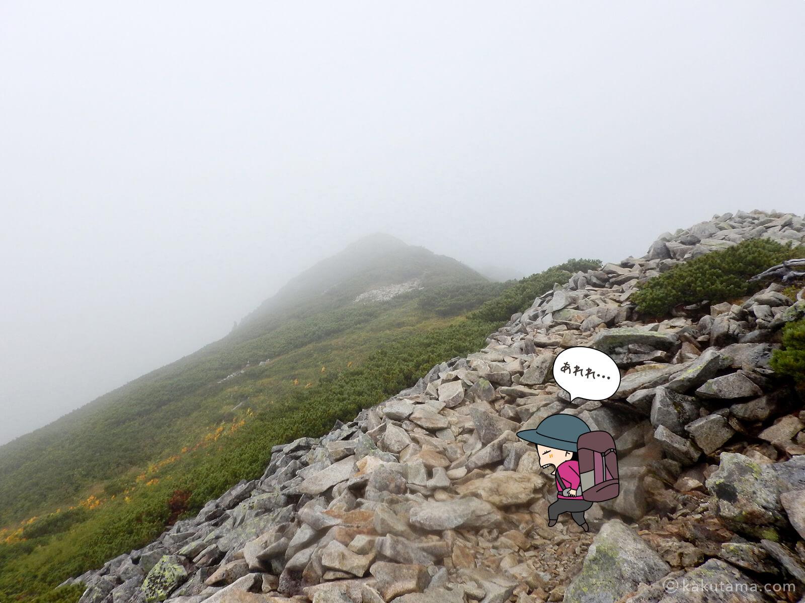 雲に覆われた稜線2