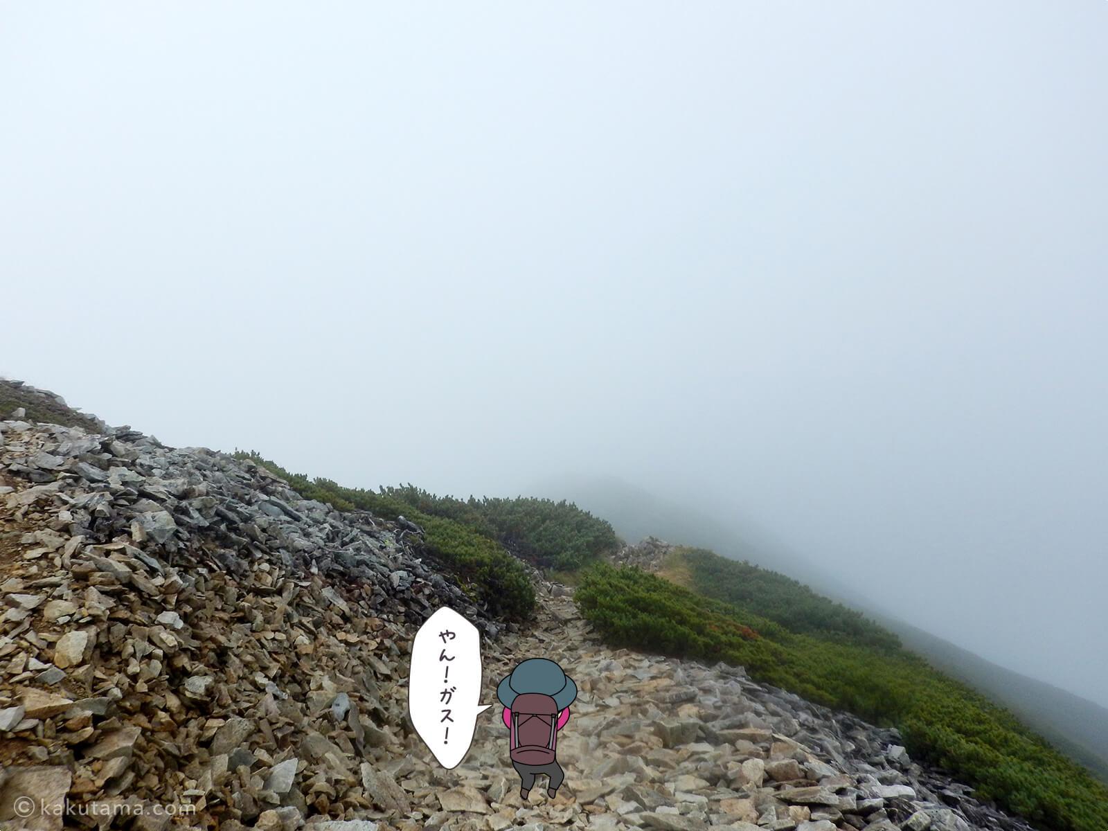 雲に覆われた稜線3