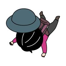 転ぶ登山者のイラスト3