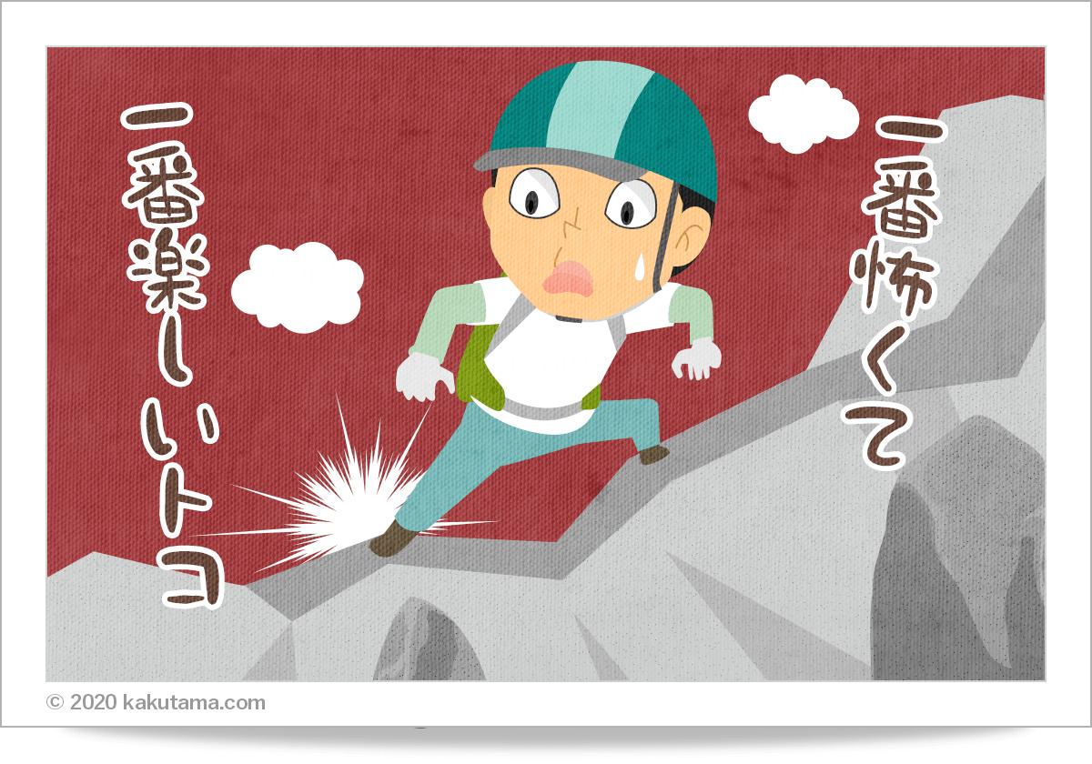 登山用語「核心部」にまつわるイラスト
