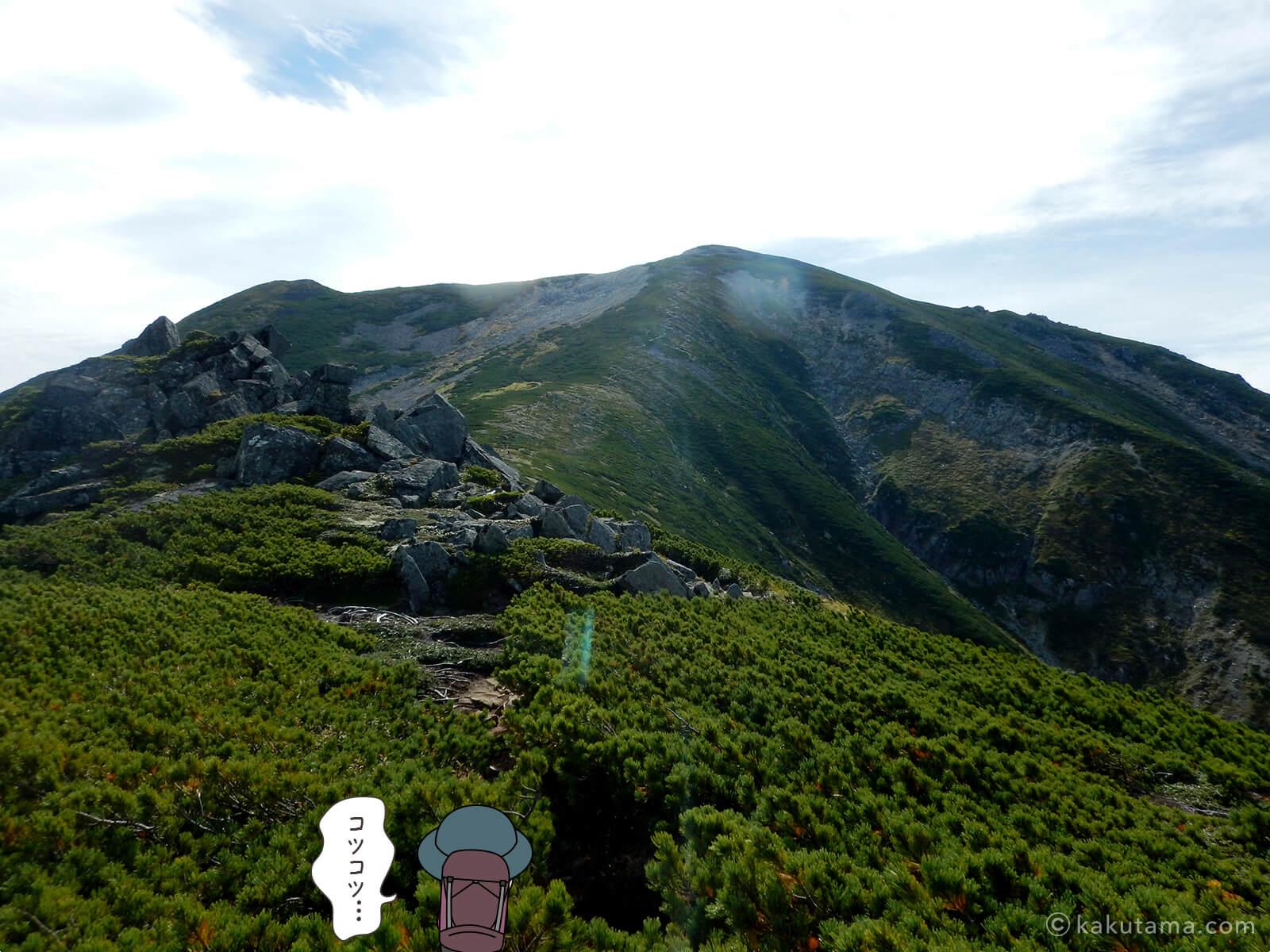 中俣乗越から黒部五郎岳へ向かって登る3
