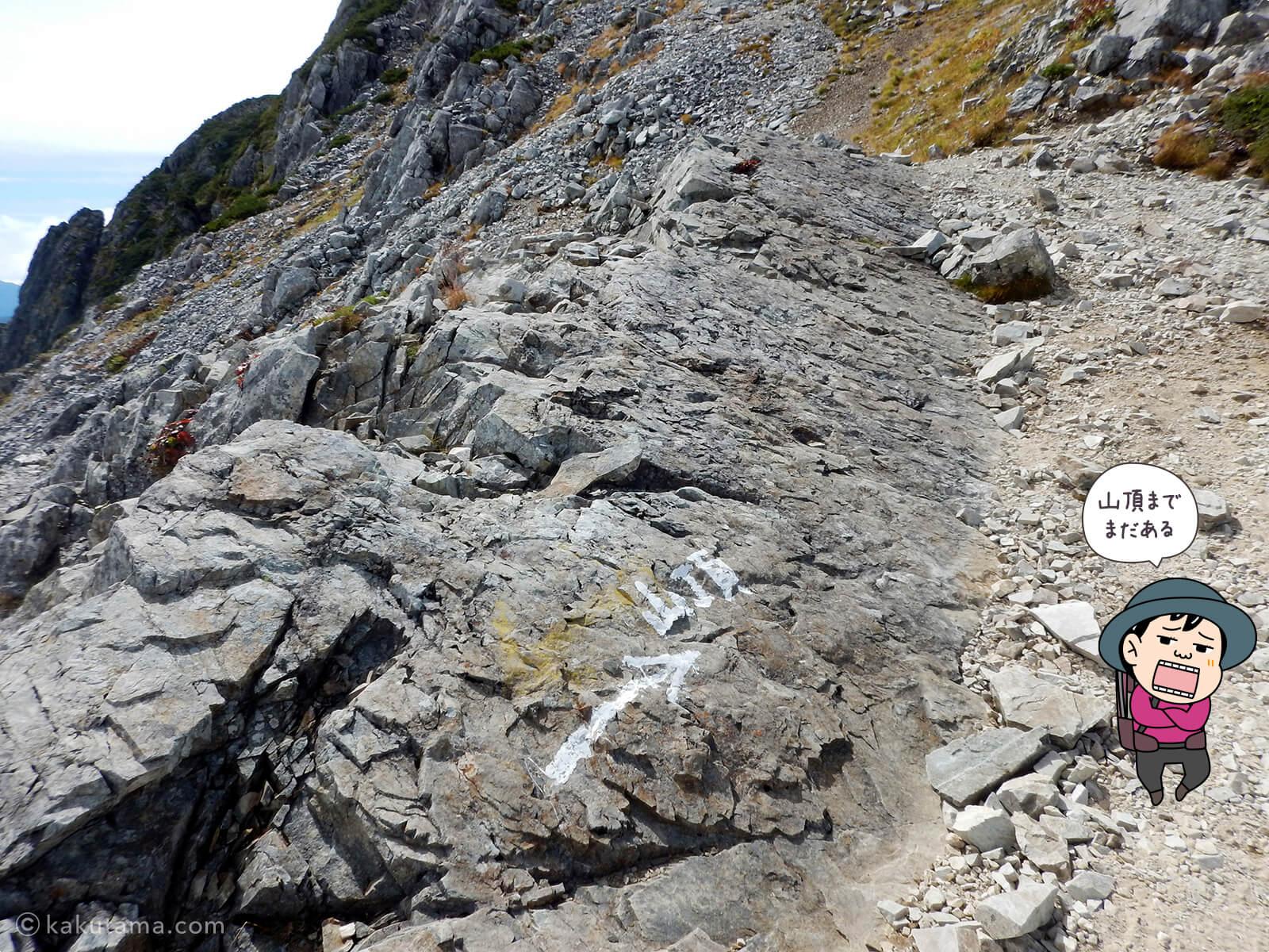 黒部五郎岳山頂はもうチョット登る