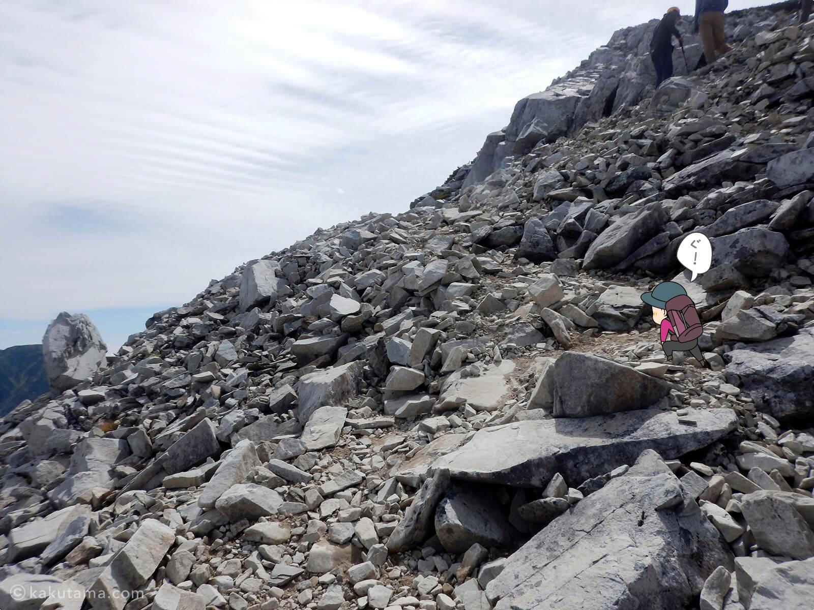 黒部五郎岳山頂までの上り1