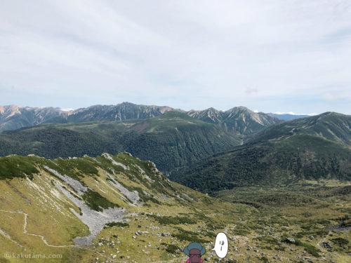 黒部五郎岳山頂からの眺め