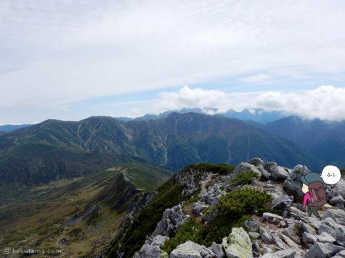 黒部五郎岳からの眺め1