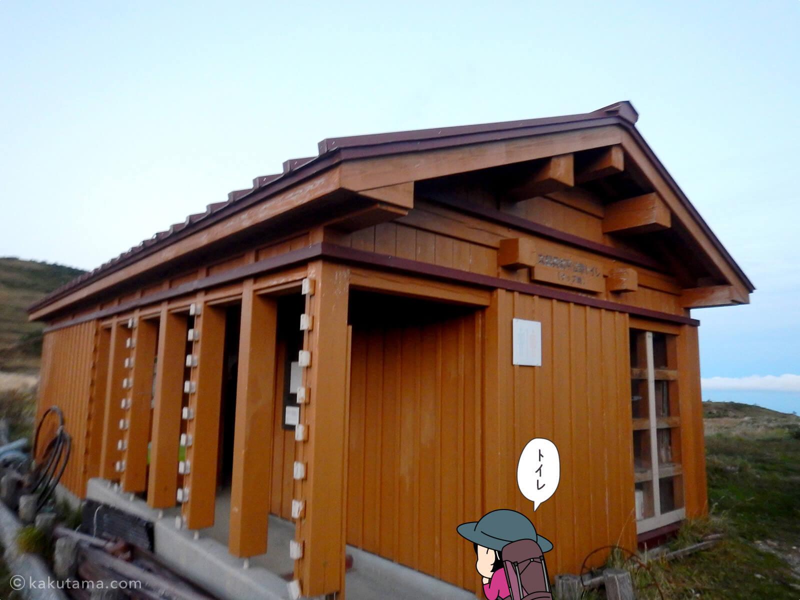 太郎平小屋のトイレ
