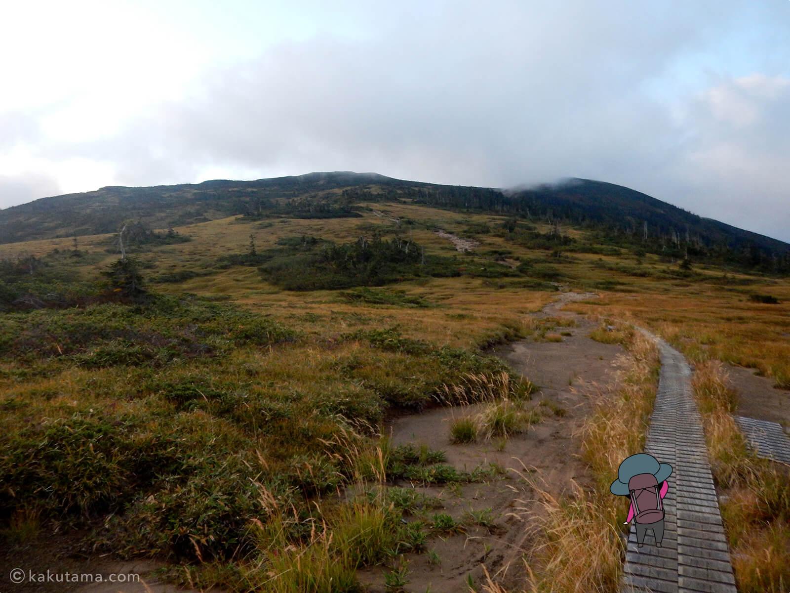 北ノ俣岳へ続いていく木道2