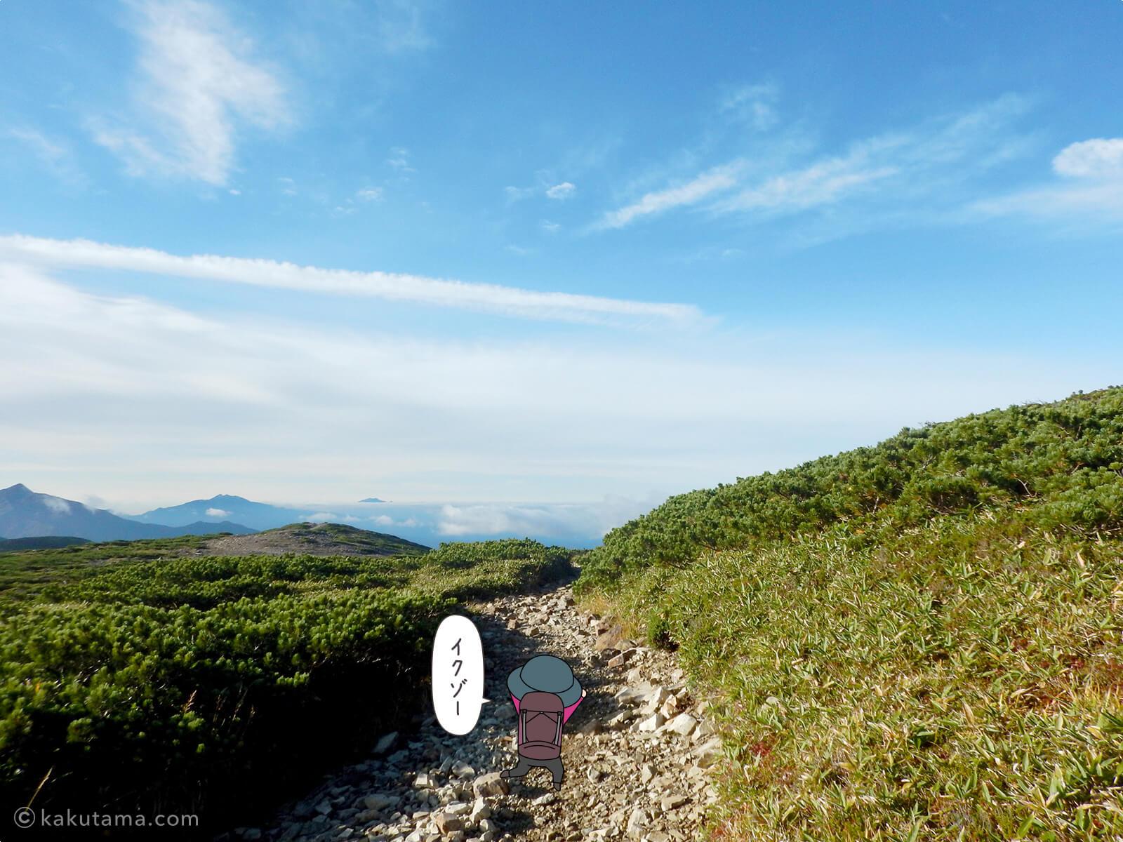 北ノ俣岳から出発