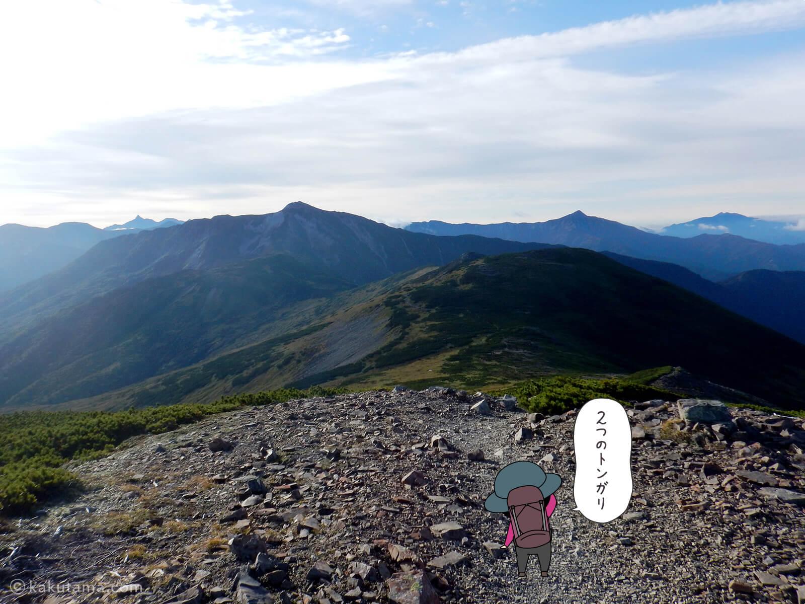 北ノ俣岳から出発2