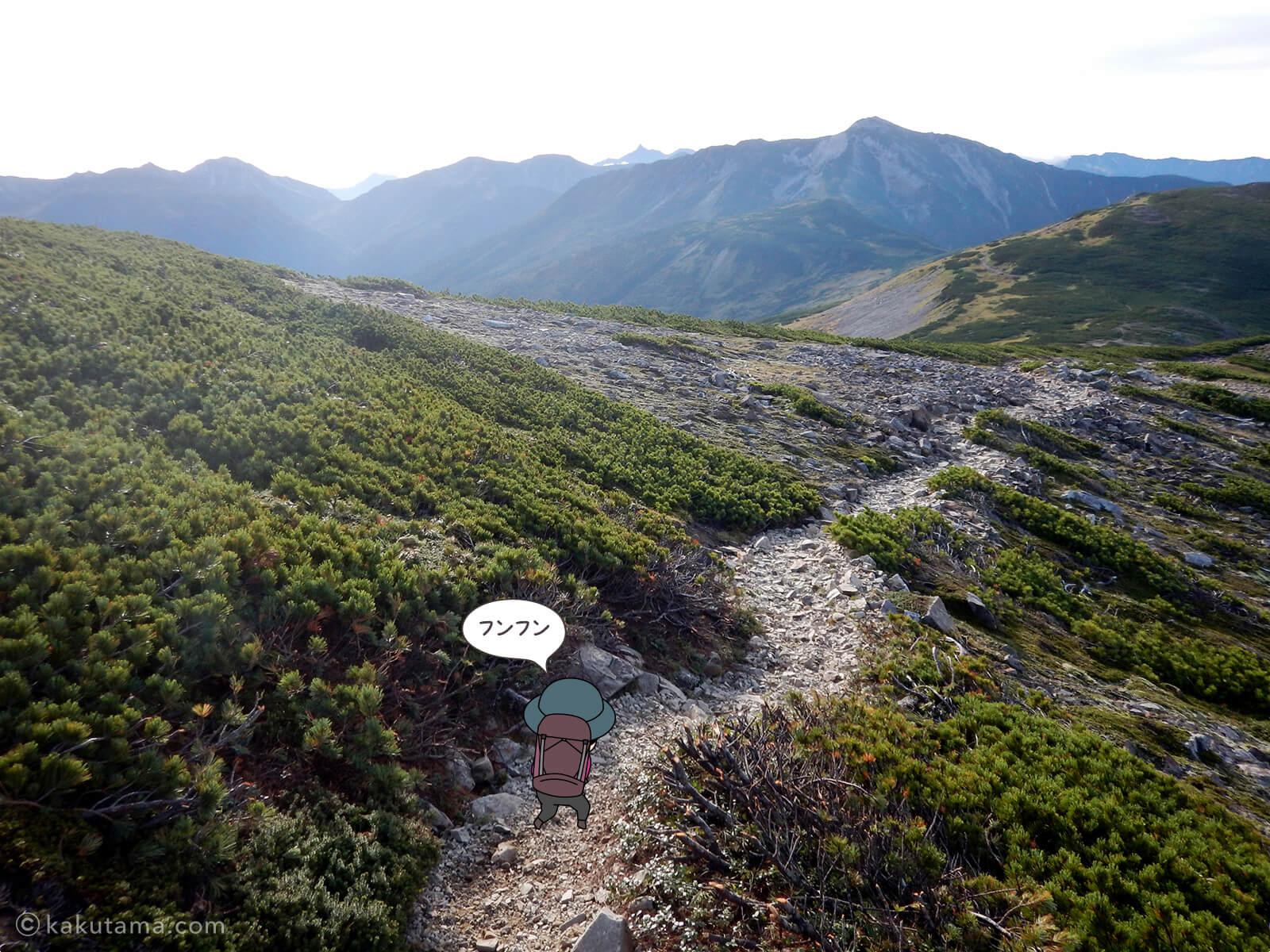 北ノ俣岳から出発3