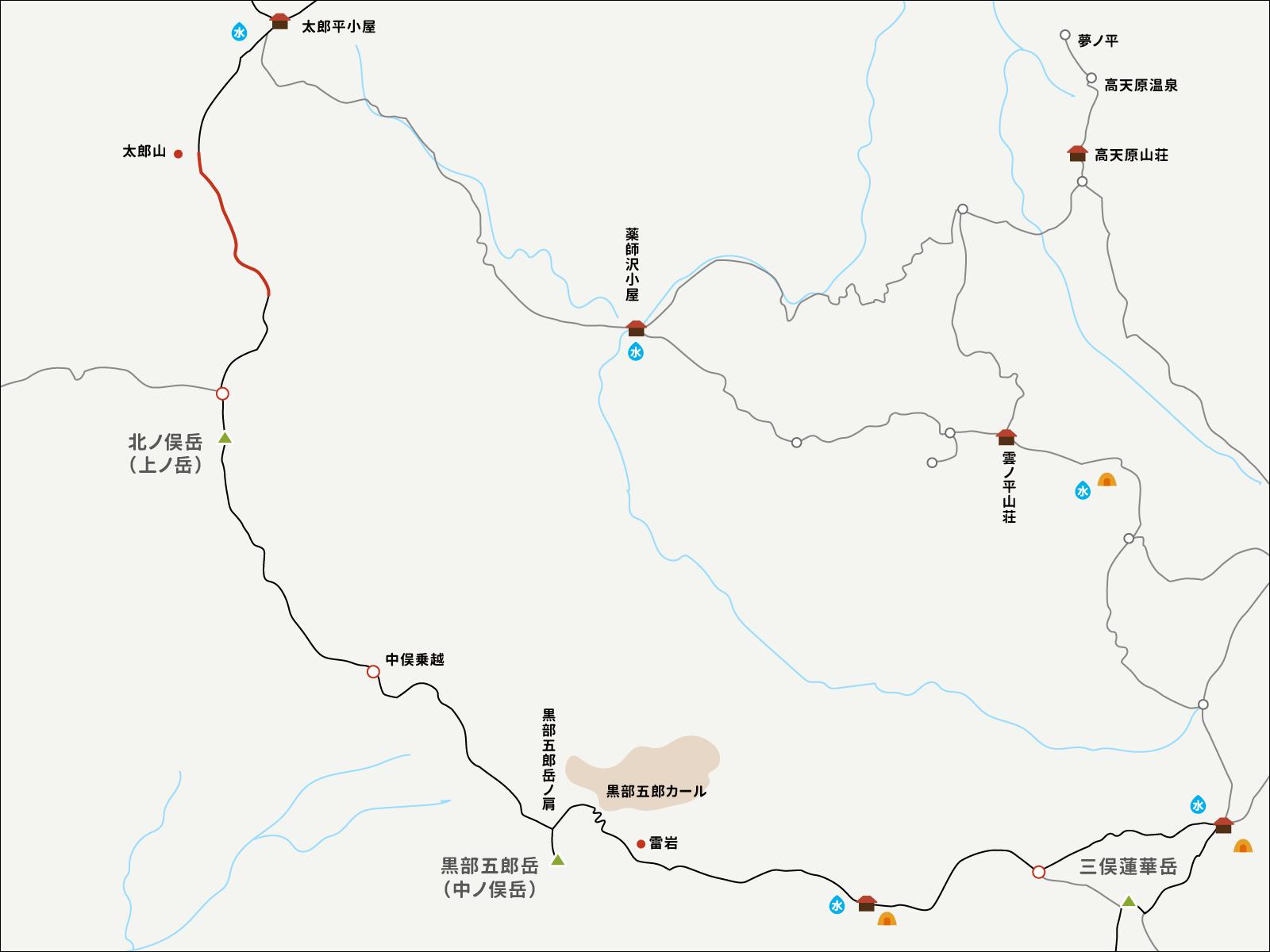 太郎山分岐からのイラストマップ