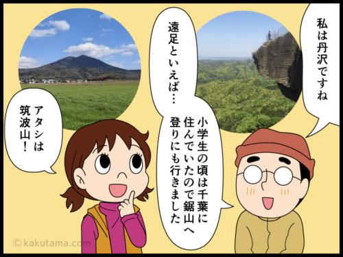今まで一番多く登った山を思い返す登山者の漫画3