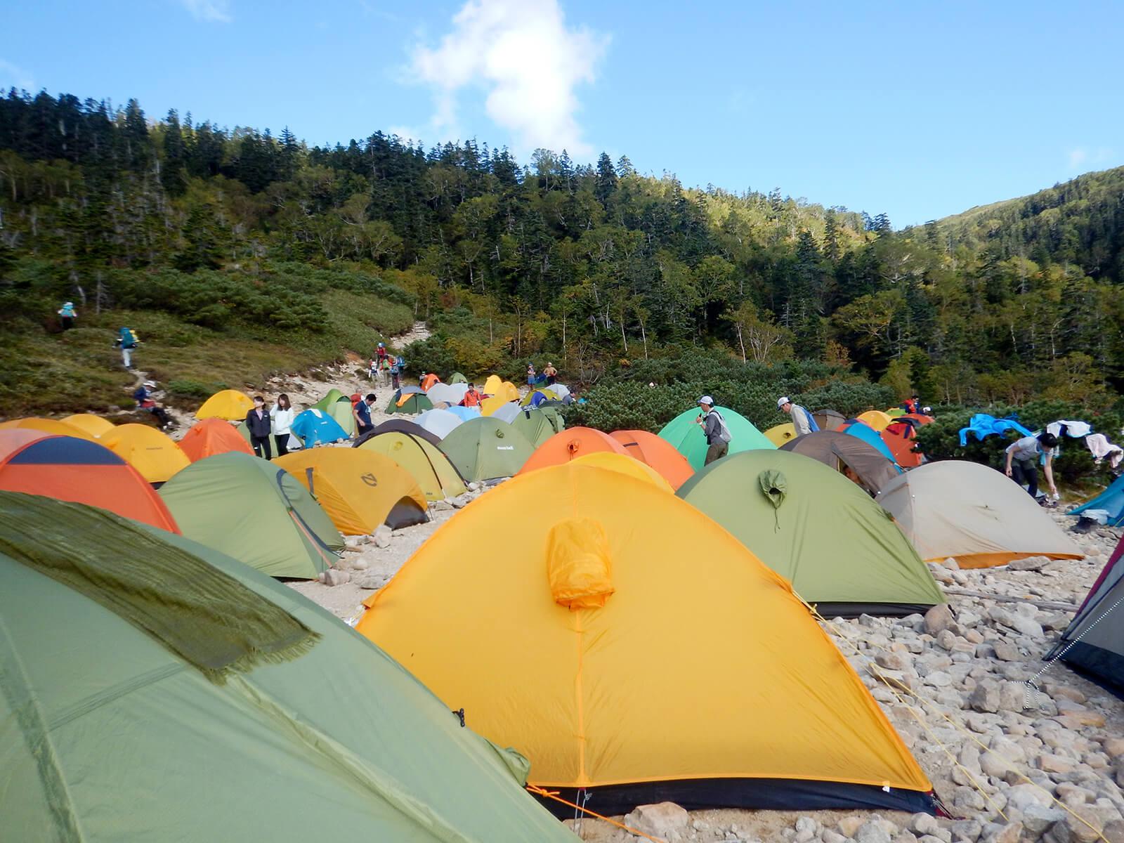 薬師峠キャンプ場のテント1