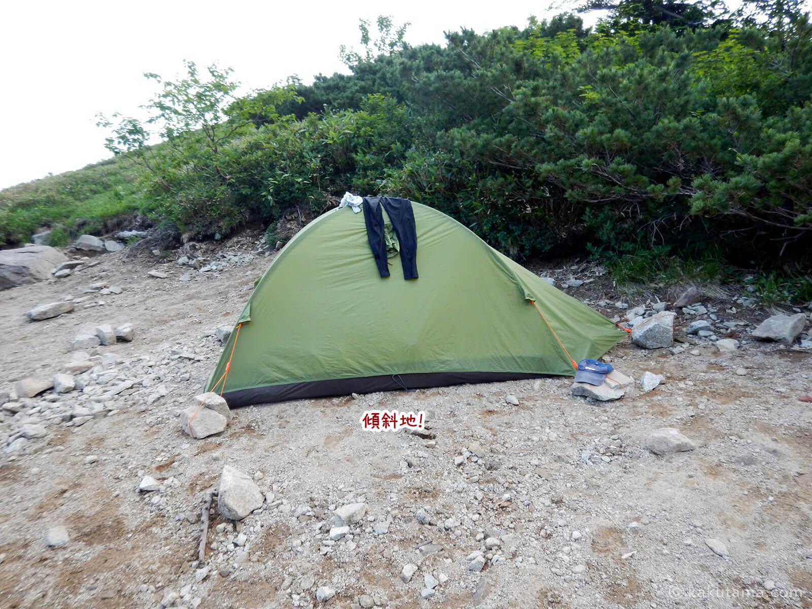 薬師峠キャンプ場のテント3