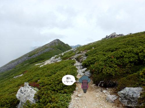 黒部五郎岳から出発3